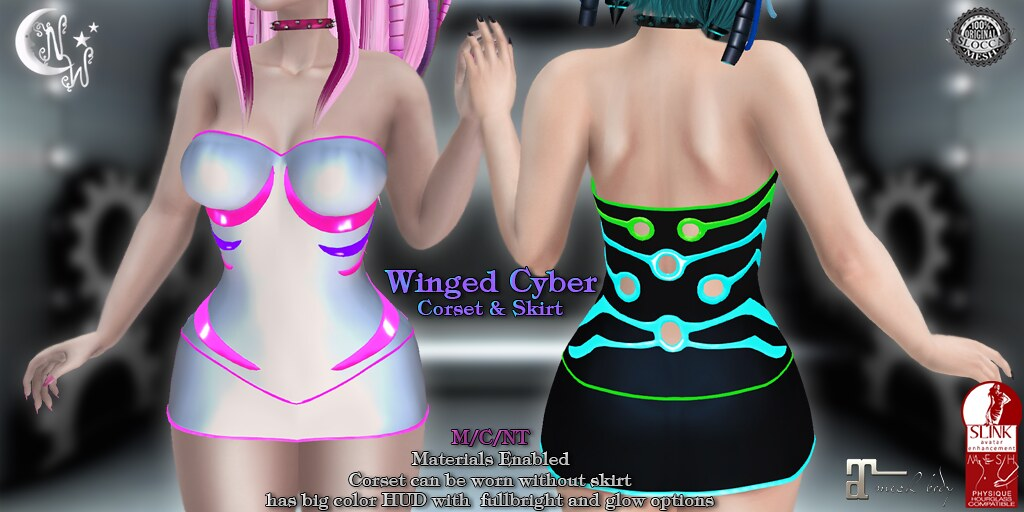 *NW* Winged Cyber Corset - TeleportHub.com Live!
