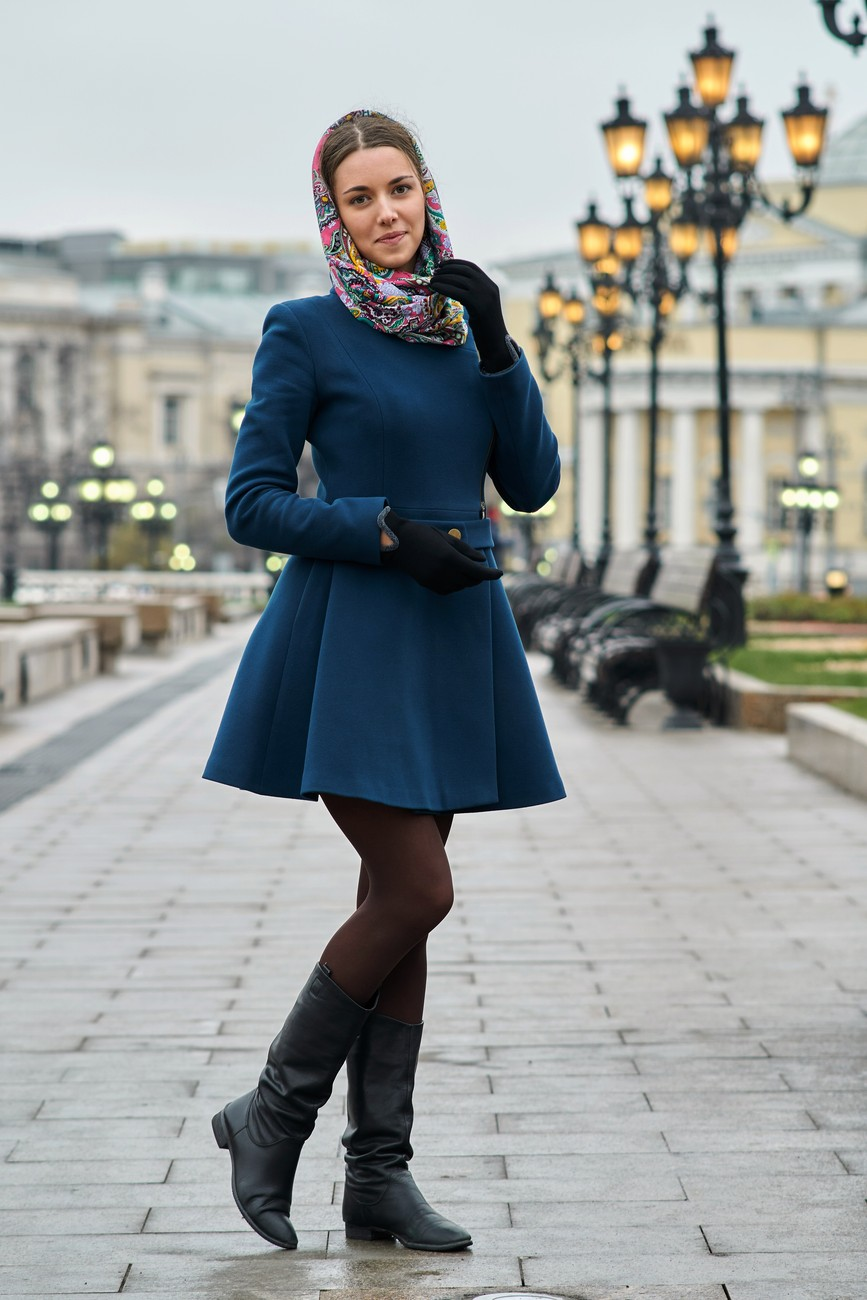 Dasha at Manezhnaya square, Moscow.