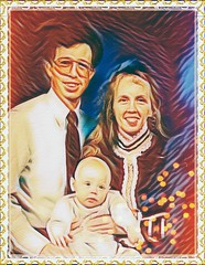 Day 22 of 365--Old Family Photo (my Sister & Her Husband and Son from 1993)--Cellphone Project 2018