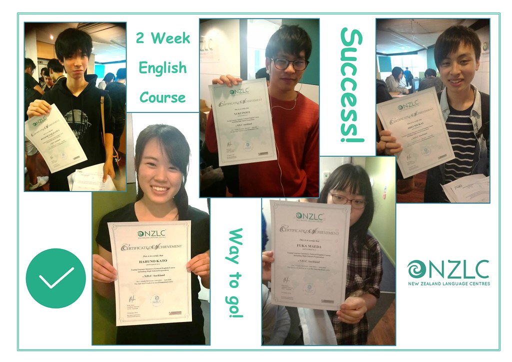 Term students with language school completion certificates
