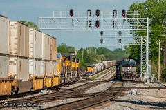 NS 9664 | GE C40-9W | BNSF Thayer South Subdivision