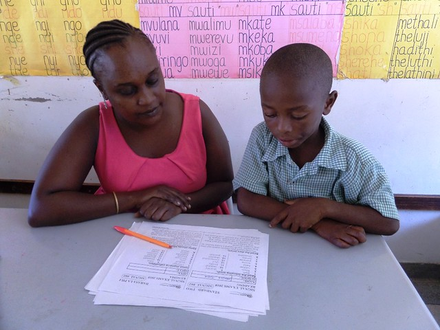 Madam Paul with one of SBM Pupils