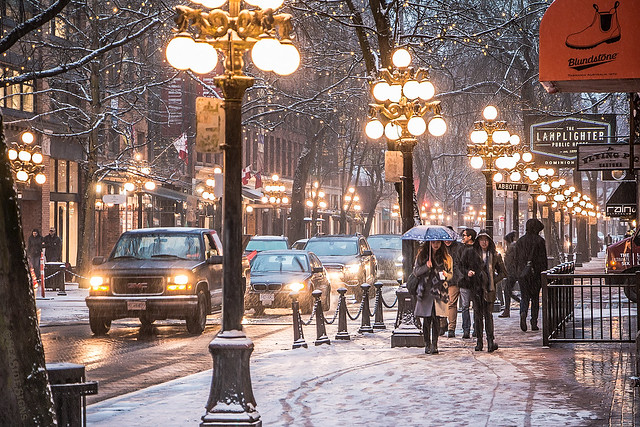 Gastown Flurry ❄💨☔ Vancouver, BC