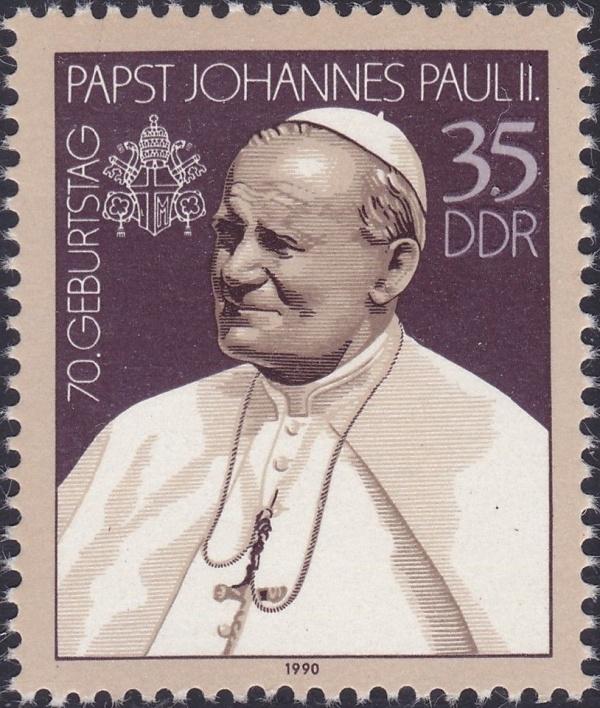 Známky NDR 1990 Pápež František II., nerazená známka