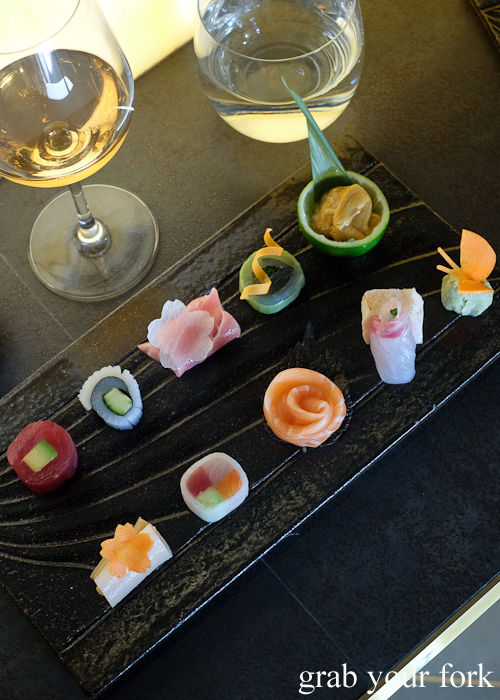 Sashimi plate by Chef Ryuichi Yoshii at Fujisaki by Lotus at Barangaroo in Sydney