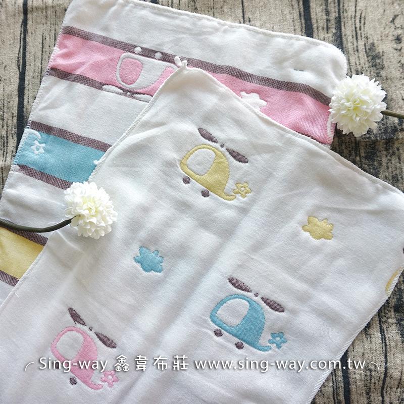 彩色直昇機六層紗 六重紗 嬰兒紗布衣 手帕 沐浴巾 毛巾 雙面布料 CA2990004