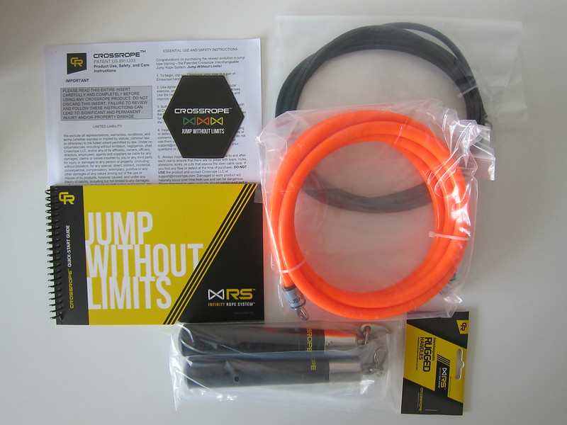Crossrope Jump Ropes Starter Kit - Box Contents