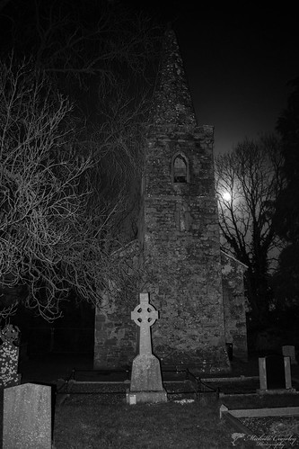 Bruree Chapel and graveyard on the night of the Supermoon.