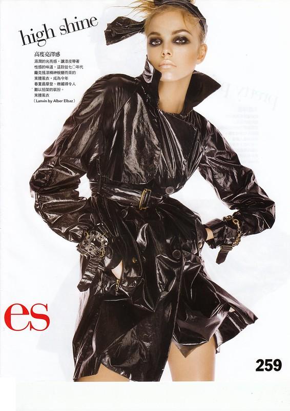 "high shine:""Smart Moves"", Vogue Taiwan, No125, Feb, 2007. Photographed by Steven Meisel, Fashion editor Grace Coddington, Hair Julien d'Ys, Makeup Pat McGrath for Max Factor"