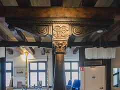 Poutre renaissance en bois de la Maison du pain de Sélestat