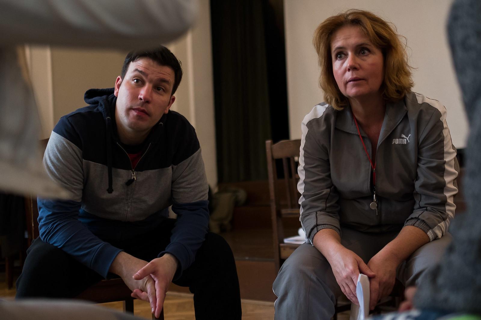 Bakonyvári L. Ágnes és Inoka Péter az egyik kiscsoportos beszélgetés során | Fotó: Magócsi Márton