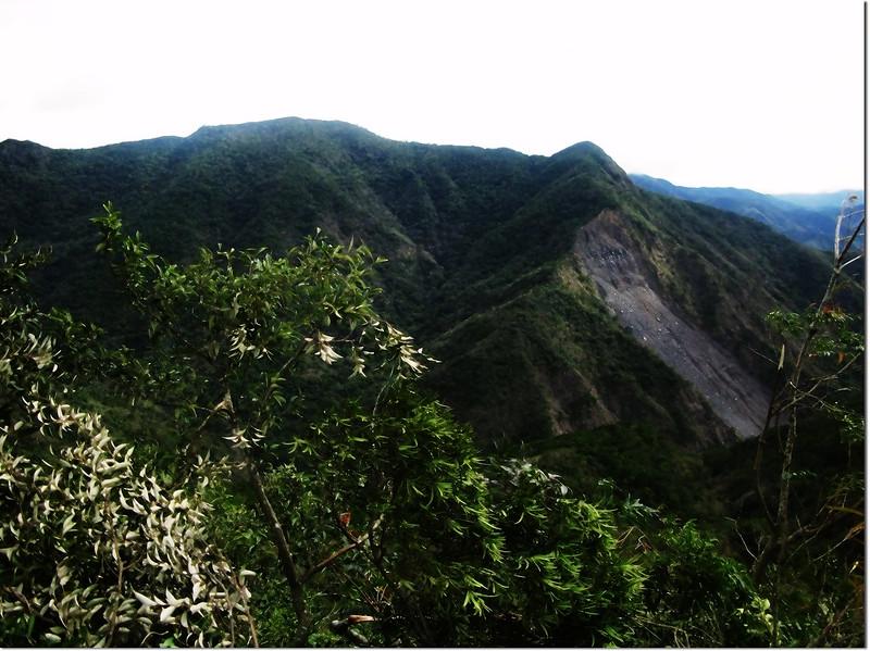 霧里乙稜線東南望巴層巴墨山(中)、825山頭(右) 1