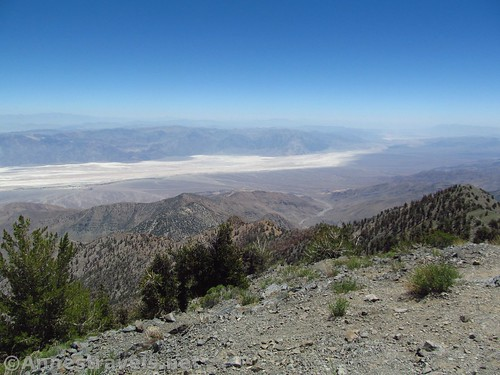 Views southeast from Telescope Peak in Death Valley National Park, California