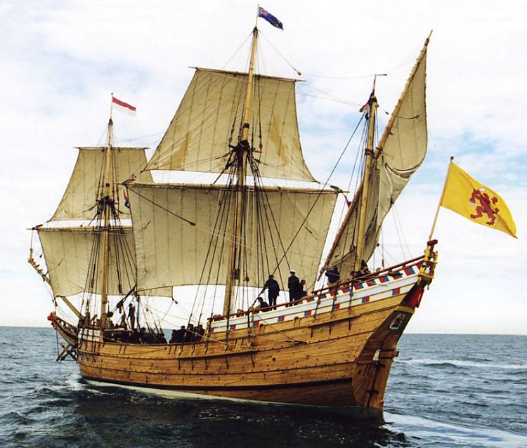The replica of the Duyfken sail