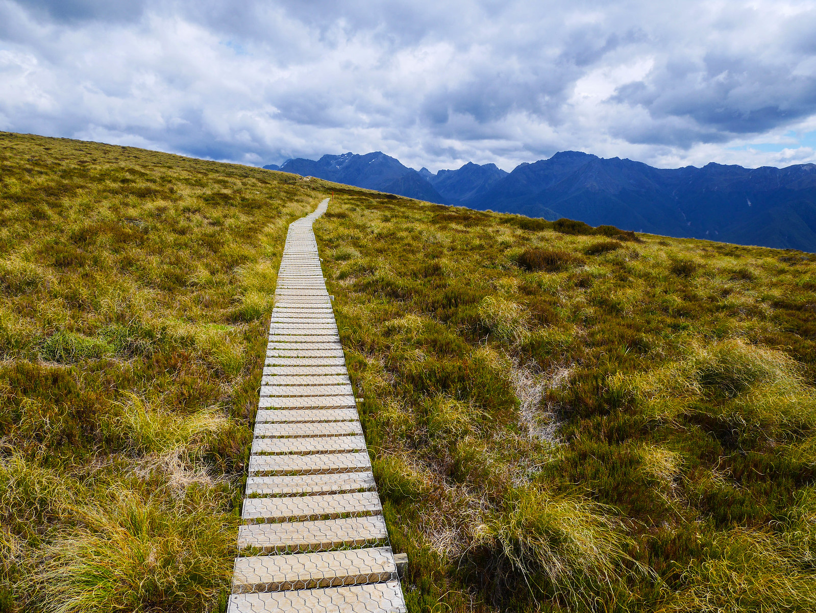 Boardwalk towards Luxmore Hut