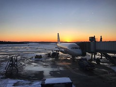 PIT to CLT. Beautiful, but cold, snowscapes in Pennsylvania the last couple days. @americanair #americanair #americanairlines #sunset #sky #pittsburgh #charlotte #PIT #CLT