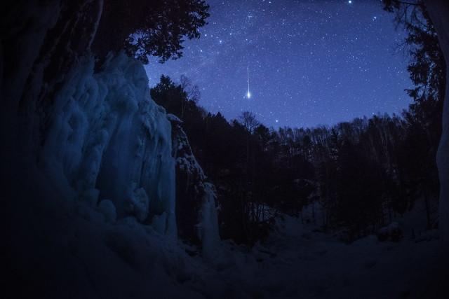Zengorrow waterfall _ satellite flare