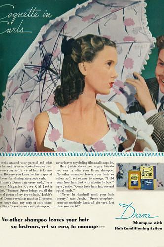 1946 Beauty Ad, Drene Shampoo,
