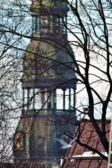 View of basilica of St. Peter from 'Little Moscow'. Riga, Latvia