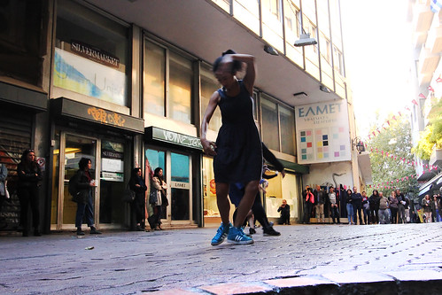 Urban Swarm Performance by Choreogenic & co.   Athens Intersection