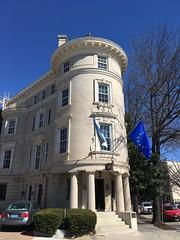 Embassy of Estonia and blue sky, Massachusetts Avenue NW, Washington, D.C.