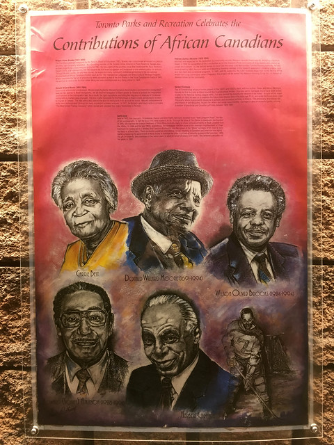 Contributions of African Canadians poster at Malvern Community Recreation Centre (1)