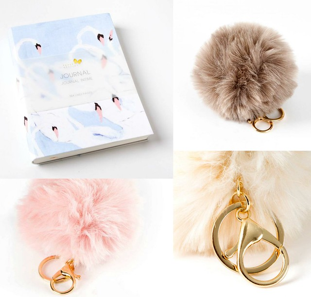 Swan Journal Clutch Gift Set