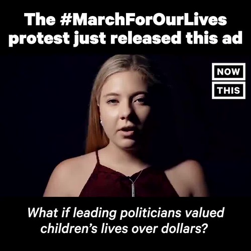 The #MarchForOurLives protest just released this ad