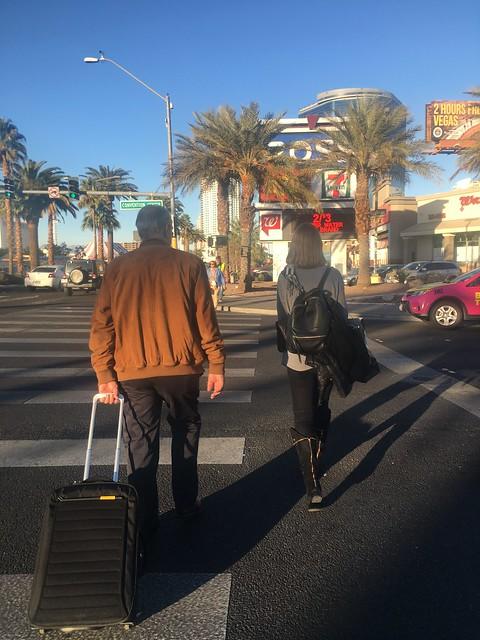 Crossing the street,  Las Vegas Strip