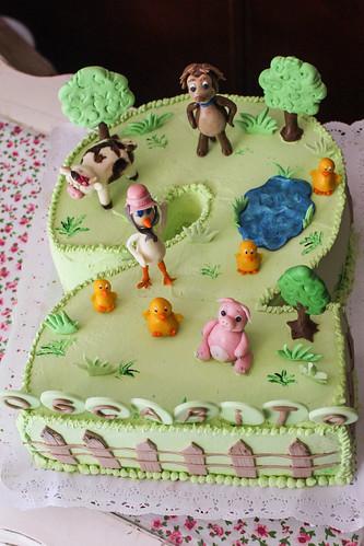 Torta tradicional con Fondant - Lieblingstiere