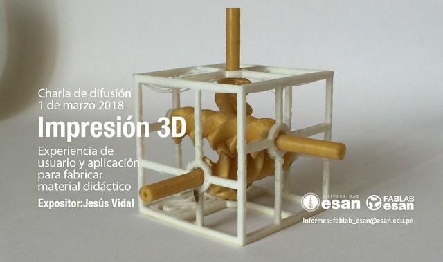 Charla difusión Impresión 3D