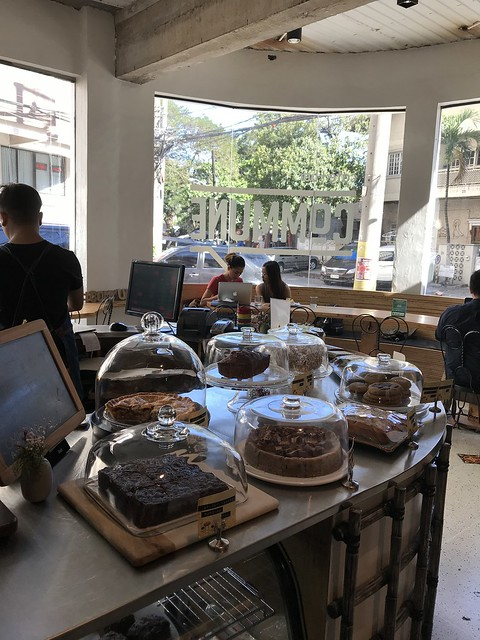 Commune Cafe + Bar, cakes and pastry selection