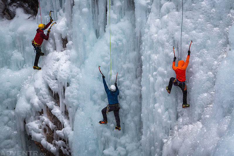 Three Ice Climbers