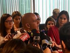 Secretário Marcelo Caetano dá entrevista após coletiva sobre o resultado do RGPS. 22.jan.2018