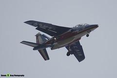 E119 7 F-UGFE - E119 - Patrouille de France - French Air Force - Dassault-Dornier Alpha Jet E - RIAT 2014 Fairford - Steven Gray - IMG_1752