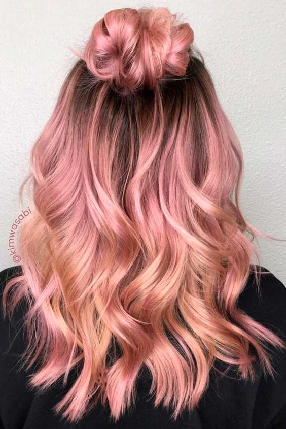 Rose Gold Color Hair