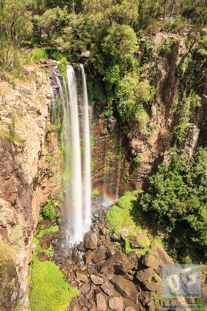 Queen Mary Falls with a Rainbow
