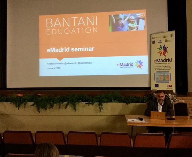 """19_01_2018 Seminario eMadrid sobre """"Emprendizaje en competencias"""""""