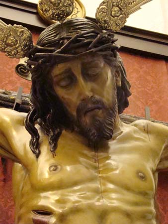 """Hermandad del Sº Cristo de la Salud y Nª Sª de La Amargura y San Juan Evangelista. Vulgo """"El Calvario""""."""