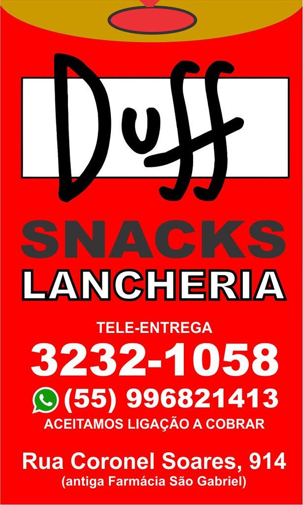 Anúncio Duff Snacks
