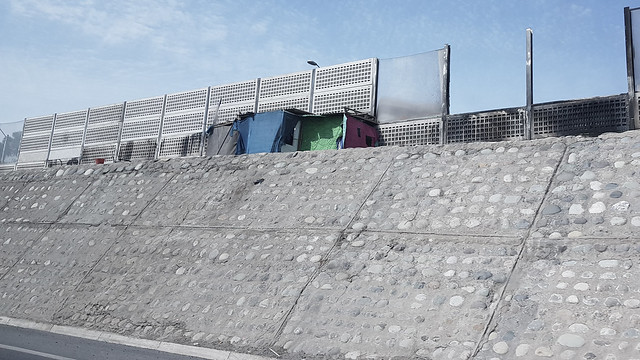 Obdachlose in Santiago