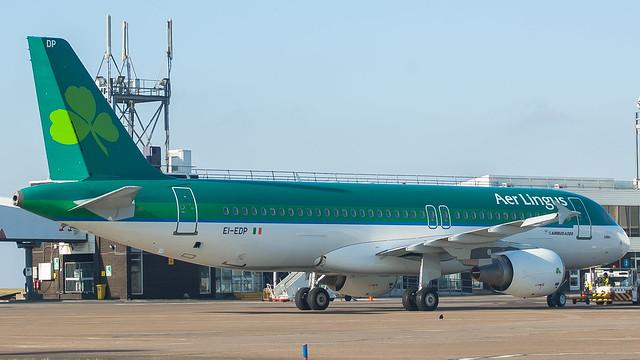 EI-EDP - Aer Lingus a320 @ Cardiff Airport 250218