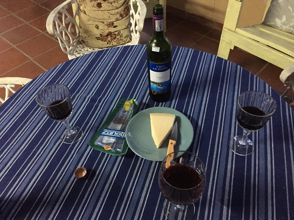 Two Oceans Shiraz and Zanetti Grana Padano 2