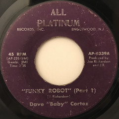 DAVE BABY CORTEZ:FUNKY ROBOT(LABEL SIDE-A)