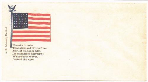 Alfred S. Robinson patriotic Civil War envelope
