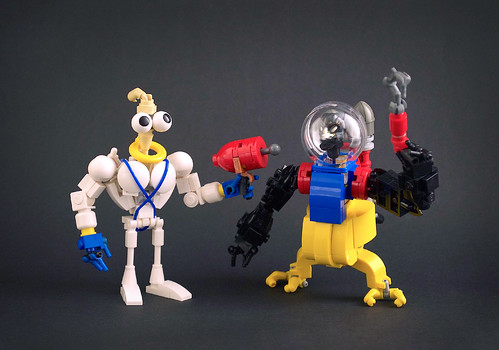 Earthworm Jim & Psycrow | by captainsmog