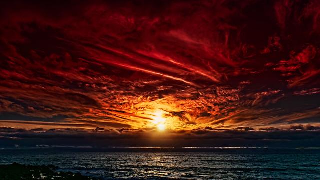 Cloudy Sunset at Playa Inglés