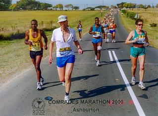 19.06.2000 Comrades Marathon Ashburton, 10 km vor dem Ziel