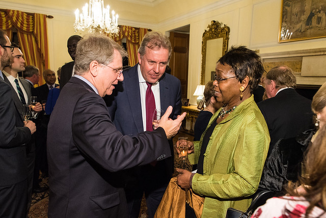 Rich Merski, Ambasador Darroch, Cynthia Bunton - 2017 Tribute Dinner at the Residence of the British Ambassador