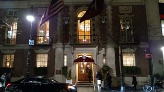 2018 ANS gala Harvard Club entrance